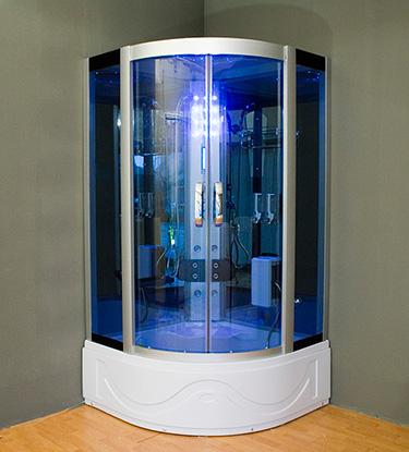 Box doccia Italia: Cabina idromassaggio con sauna + vasca cm 105x105