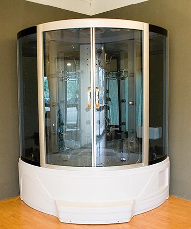 Box doccia Italia: Cabina idromassaggio con sauna + vasca idromassaggio cm 150x150
