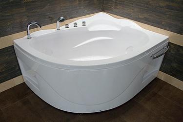 Box doccia italia vasca semicircolare ad angolo cm - Piccola vasca da bagno ...