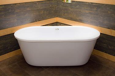 Box doccia italia vasca da bagno da centro stanza cm 166x83 - Vasca da bagno con piedini ...